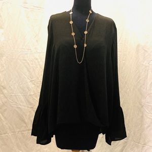 IMAN FLARED SLEEVE BLOUSE